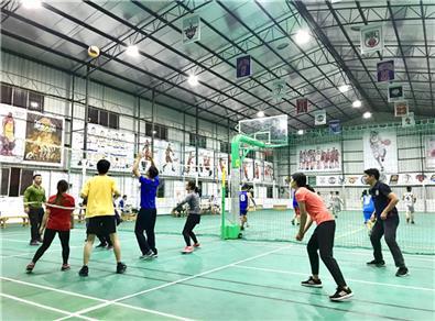 【第四届气排球比赛】机关队积极训练,突破自我,力争再创佳绩!